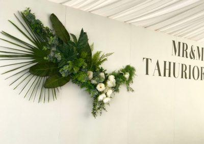 White Wedding Wall