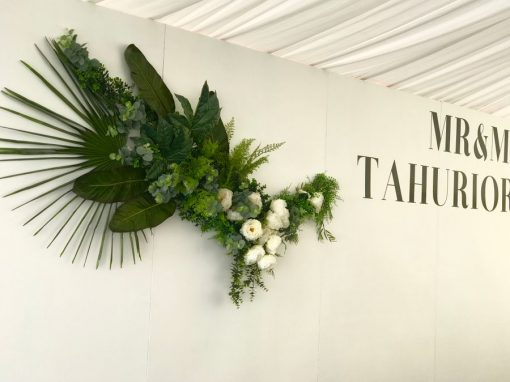 White Wedding Wall